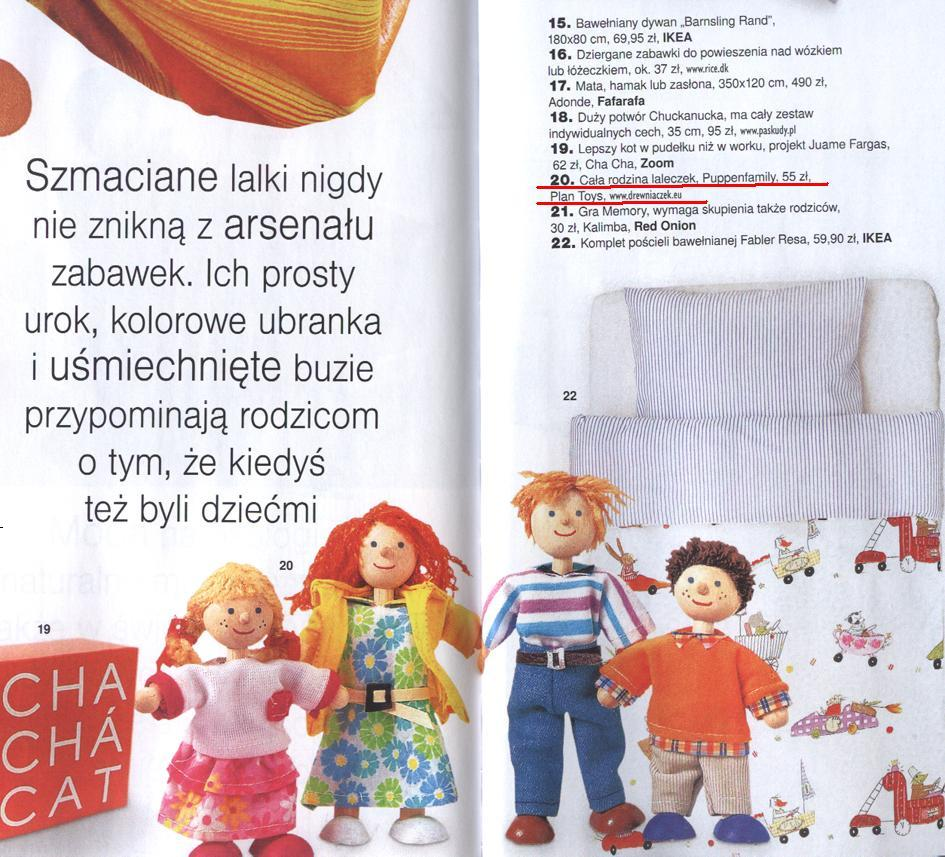 Nowoczesna Rodzina lalek Plan Toys