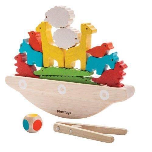 Balansująca łódka, drewniana gra manipulacyjna, Plan Toys®