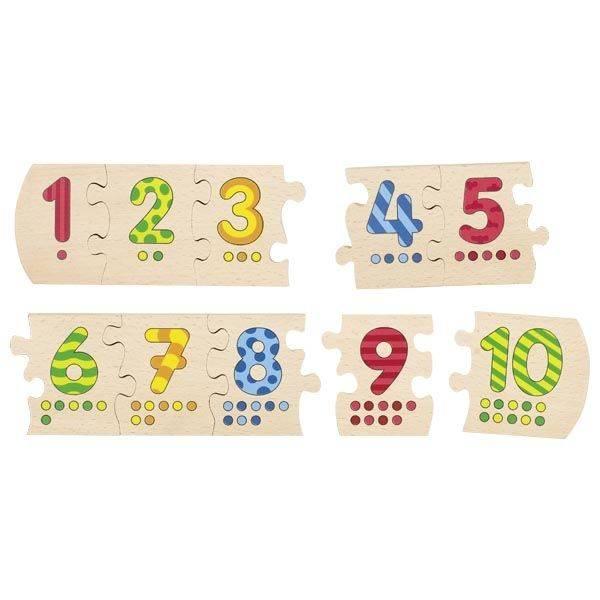 Drewniane puzzle Liczbowe