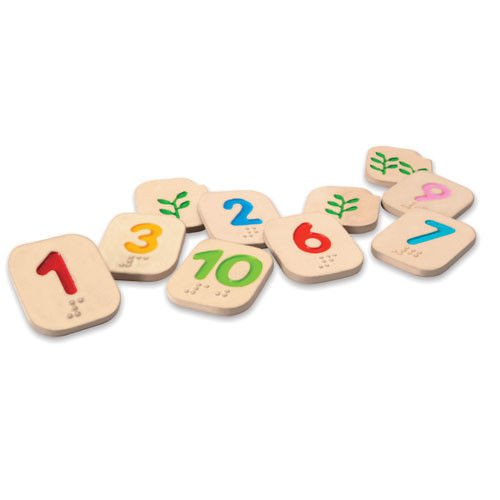 Klocki, cyferki Braille'a 1-10 Plan Toys