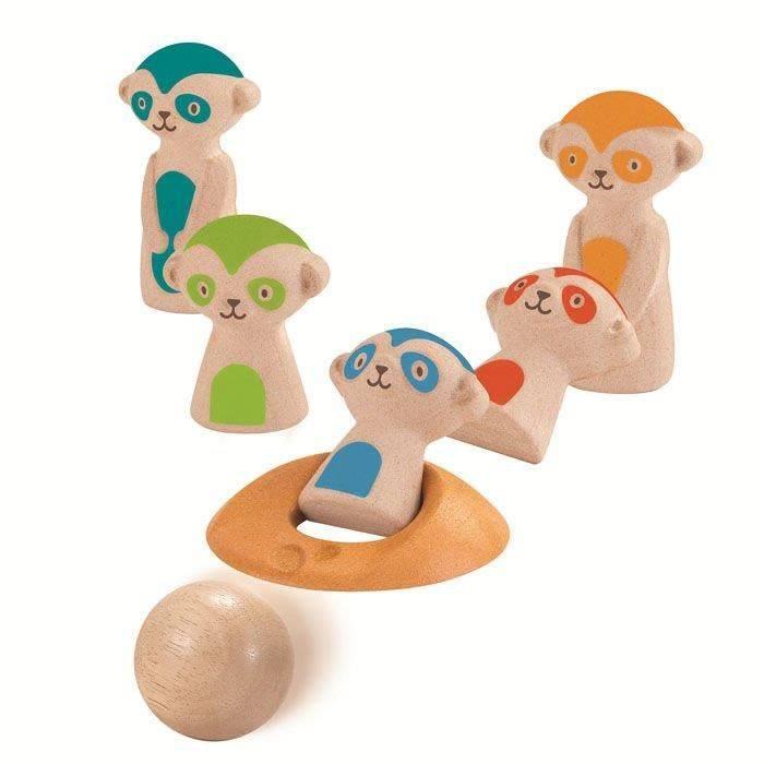 Kręgle dla dzieci, surykatki Plan Toys