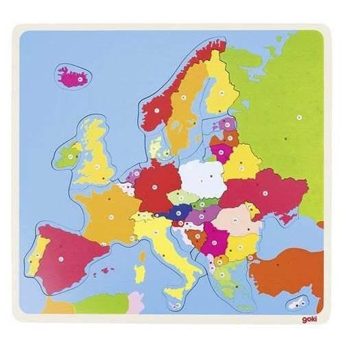 Puzzle drewniane Europa Goki