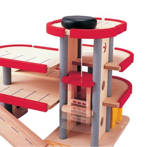 Drewniany Piętrowy Parking Garaż Plan Toys 8854740062277 Plto