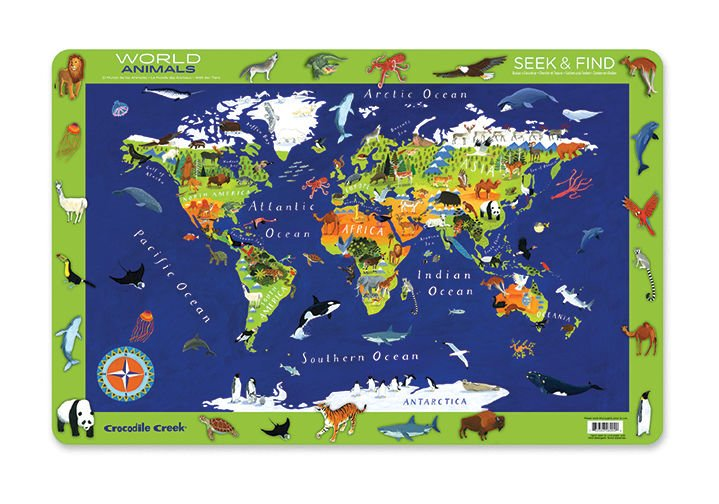 Podkładka na stół z mapa świata