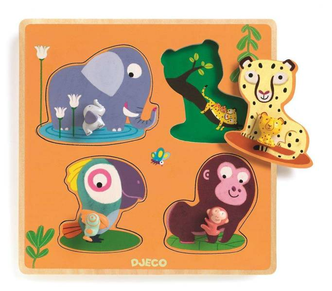 Drewniane puzzle MAMIJUNGLE DJ01054