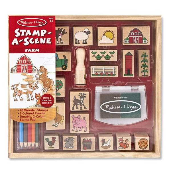 Melissa and Doug, Drewniane Stempelki Farma, MD18592